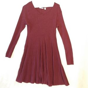 Cato size large red knit dress long-sleeved